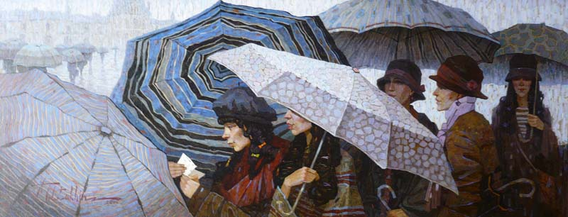 cTOLST 85 Paris Umbrellas 18 14x47 14 oil