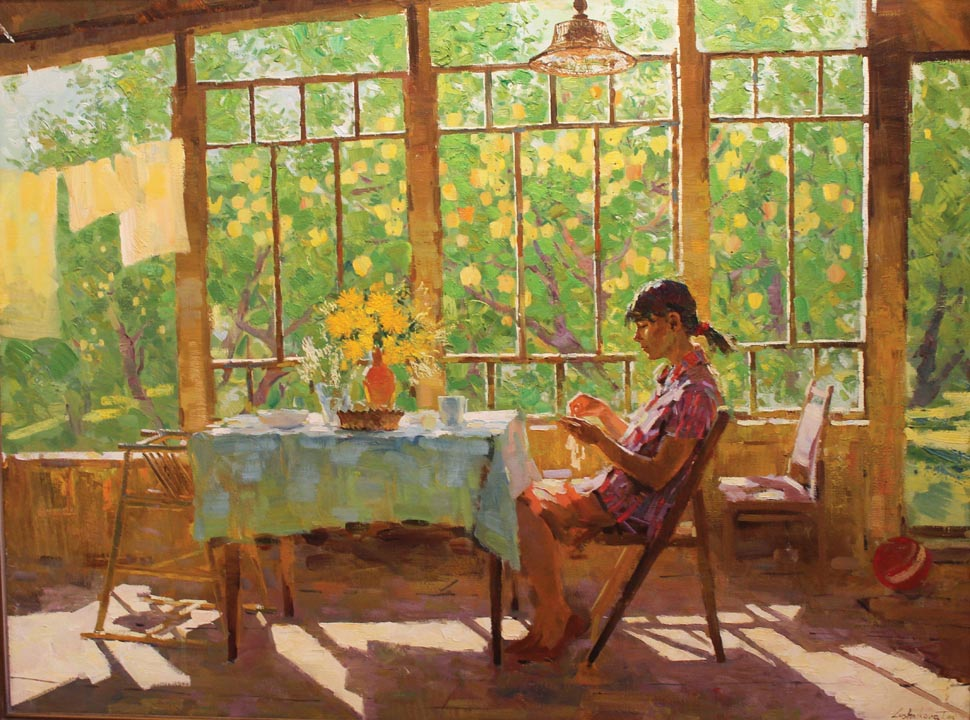 cLUSH 06 Morning Tea Tatyana Lushnikova 35.25 x 47.25 oil