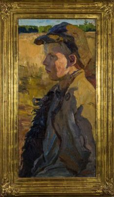 Arkadi Plastov - Boy in Coat