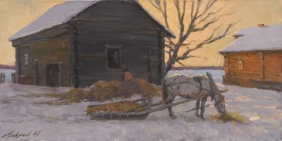 Andrey Alekhin - Old Barn, Evening