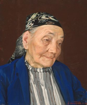 Nikolai Baskakov - Portrait of an Old Woman
