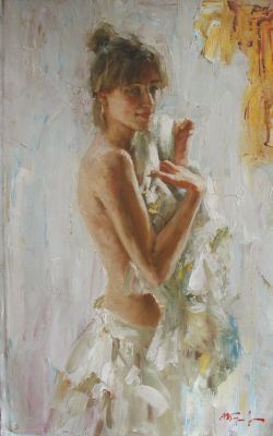 Andrian Bersenev - Woman in White