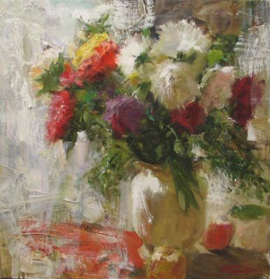 Andrian Bersenev - Still Life with Flowers