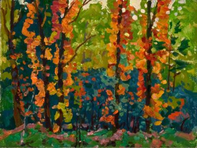 Sold Works: Evgeni Chuikov - Autumn Arrives