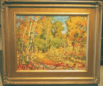 Sold Works: Evgeni Chuikov - Autumn Undergrowth