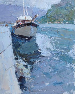 Select Sold Works: Daniil Volkov - Moored Boat