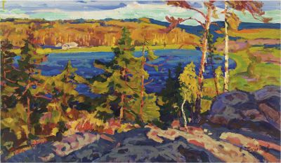 Sold Works: Evgeni Chuikov - Blue Lake of Karelia