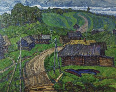 Evgeni Chuikov - Old Village in the North, 1967