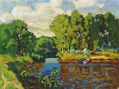Sold Works: Evgeni Chuikov - Summer Day on the River