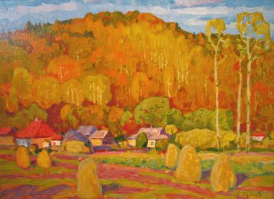Sold Works: Evgeni Chuikov - Autumn in Mikhailovski