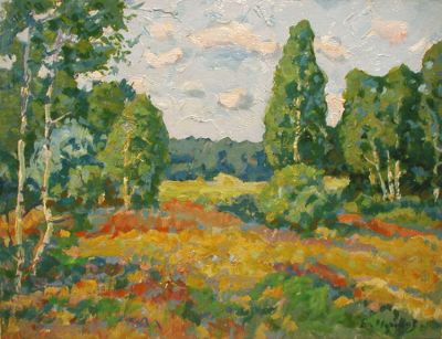 Sold Works: Evgeni Chuikov - Opening to the Meadow, 1978