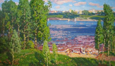 Sold Works: Evgeni Chuikov - View from Khortiza