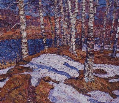 Valerian Formozov - March Birch Trees