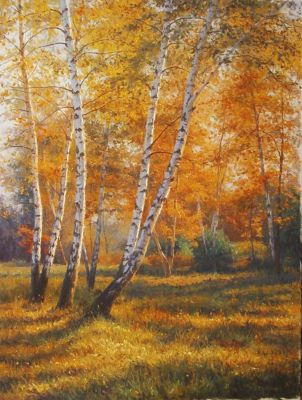Gennadi Kirichenko - Autumn Birches