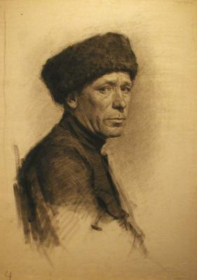 Fedir Glyshuk - Man in a Fur Hat