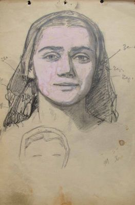 Fedir Glyshuk - Study of a Face, 1956