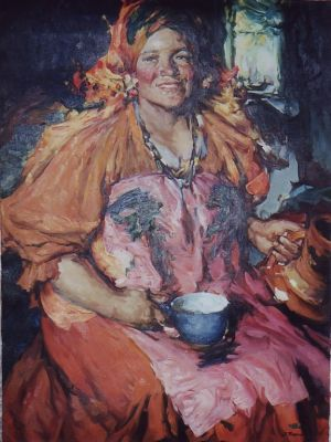 Nikolai Golushev - Russian Woman (after Arkhipov)