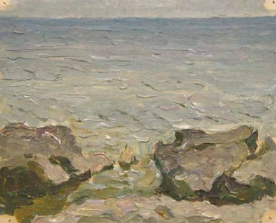 Sold Works: Vasili Gurin - Gray Sea