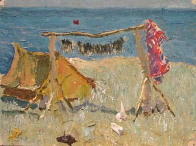 Sold Works: Vasili Gurin - Camp by the Sea