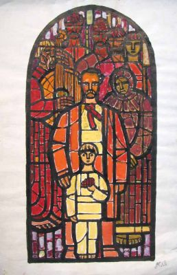 Fedir Glyshuk - Stained Glass Design, 1953