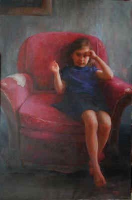 Select Sold Works: Marci Oleszkiewicz - Grandma′s Chair