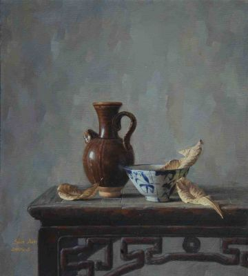 Sun Jun - Still Life with Pottery