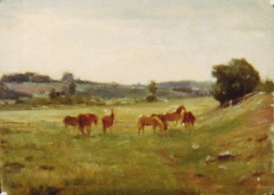 Sold Works: Ilmar Kimm - Horses in Field