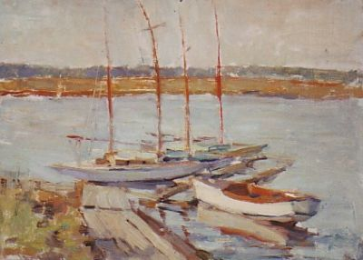 Sold Works: Ilmar Kimm - Yachts in the Port