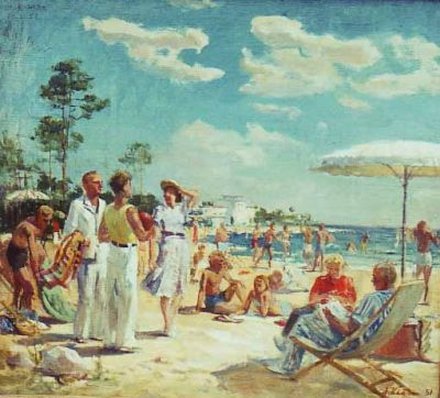 Sold Works: Ilmar Kimm - On Parnu Beach