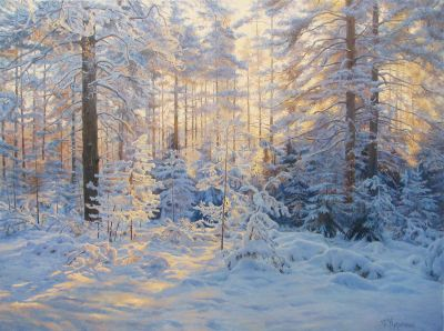  Select Sold Works: Gennadi Kirichenko - Winter Landscape