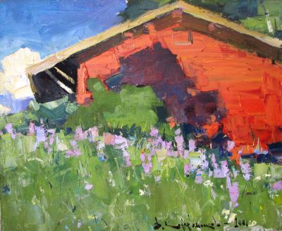 Vladimir Kozhevnikov - Morning, Old Barn