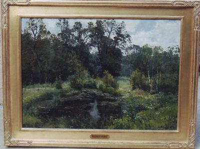 Sold Works: Vladimir Krantz - In the Park Aleksandrichya