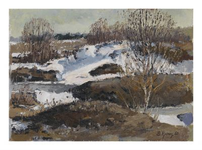 Sold Works: Vladimir Krantz - Melting Snow