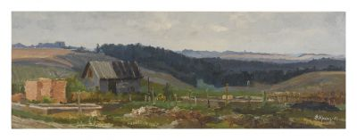 Sold Works: Vladimir Krantz - Farm in Kuzmolovsche