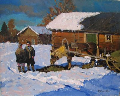 Select Sold Works: Alexander Kremer - At the Barn