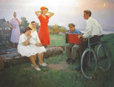 Aleksandr Kerzhner - Village Dating, 1969
