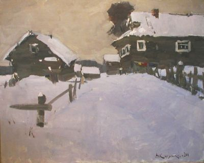 Vladimir Kozhevnikov - Winter in the Village