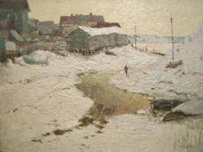 Sold Works: Vladimir Krantz - Ladoga Winter