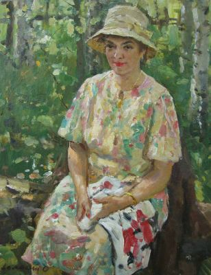 Oleg Lomakin - Portrait of Wife