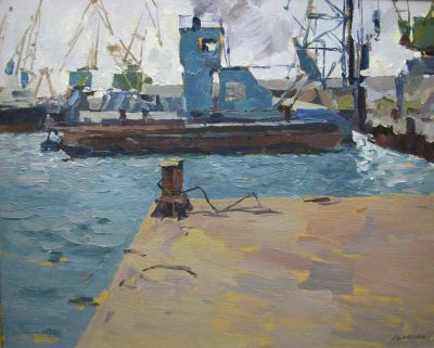 Konstantin Lomykin - Corner of the Port, 1962