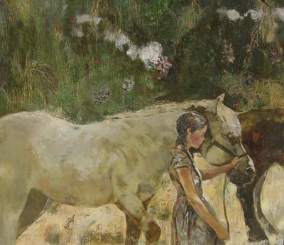 Konstantin Lizogub - Girl with Horses
