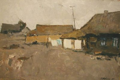 Sold Works: Gavriil Malysh - Drying Laundry