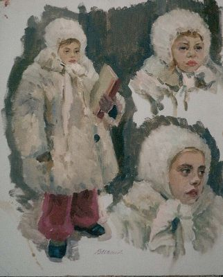Sold Works: Vladimir Masik - Girl in Winter
