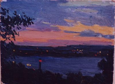 Sold Works: Vladimir Masik - Lighthouse on the Dnieper