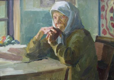 Vladimir Masik - Babushka at Table