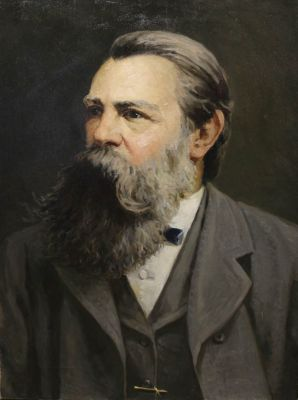 Vladimir Masik - Portrait of Friedrich Engels