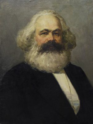 Sold Works: Vladimir Masik - Portrait of Karl Marx, 1950s