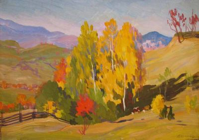 Sold Works: Vladimir Masik - Pasture in Autumn 1962