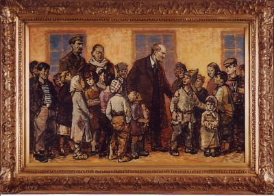 Konstantin Mikhailov - Lenin with Homeless Children