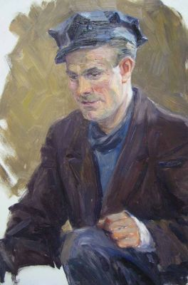 Konstantin Mikhailov - Portrait of L. Liesfield, 1960